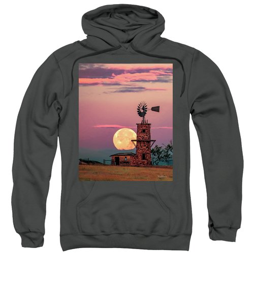 Windmill At Moonset Sweatshirt