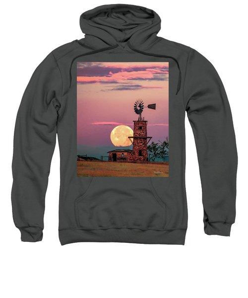 Windmill At Moonset Sweatshirt