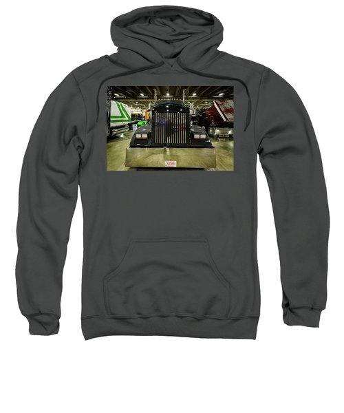 Sweatshirt featuring the photograph 2000 Kenworth W900 by Randy Scherkenbach