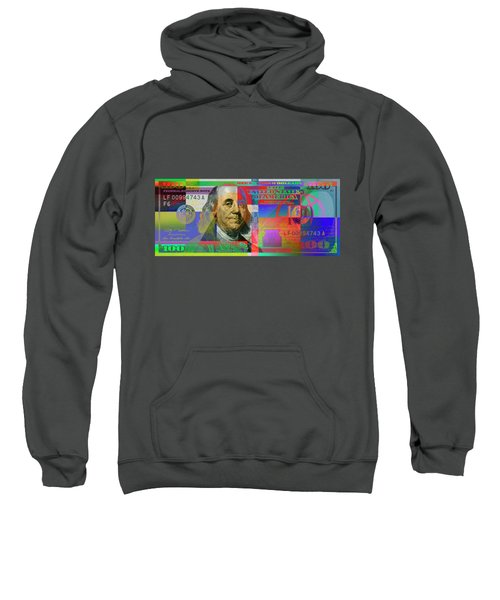 2009 Series Pop Art Colorized U. S. One Hundred Dollar Bill No. 1 Sweatshirt