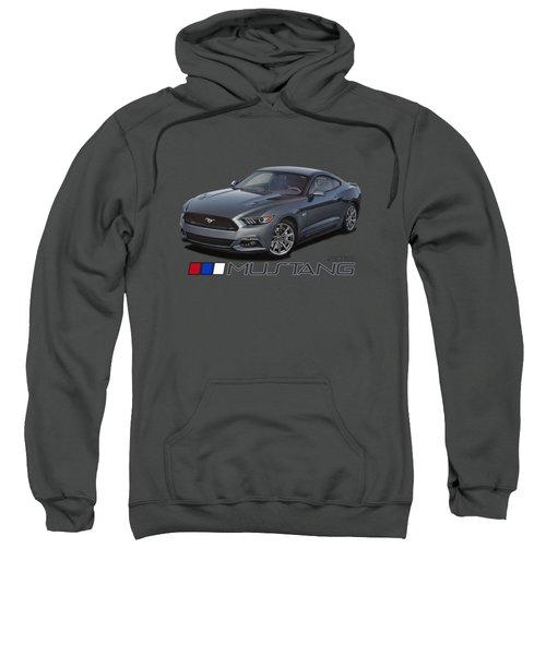 2015 Metallic Grey Mustang Sweatshirt