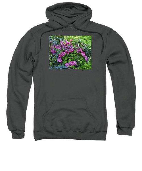 2015 Summer At The Garden Beautiful Clematis Sweatshirt