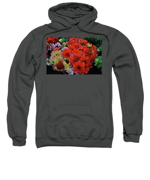 2017 Mid October Monona Farmers' Market Buckets Of Blossoms 1 Sweatshirt