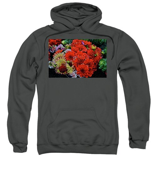 2017 Mid October Monona Farmers' Market Buckets Of Blossoms 1 Sweatshirt