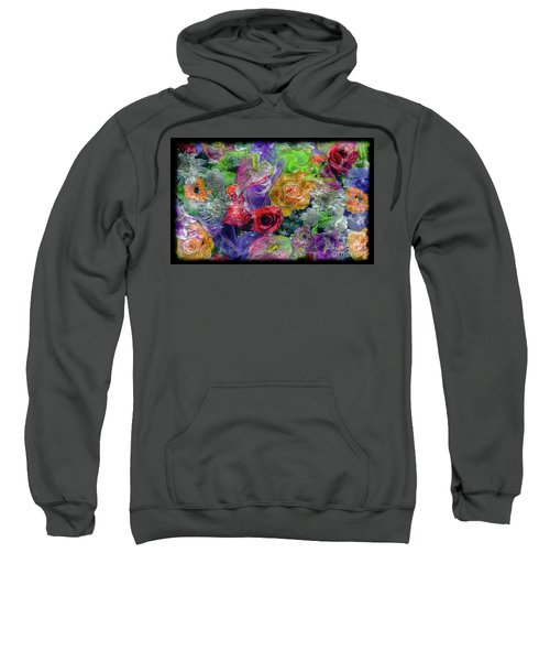 21a Abstract Floral Painting Digital Expressionism Sweatshirt