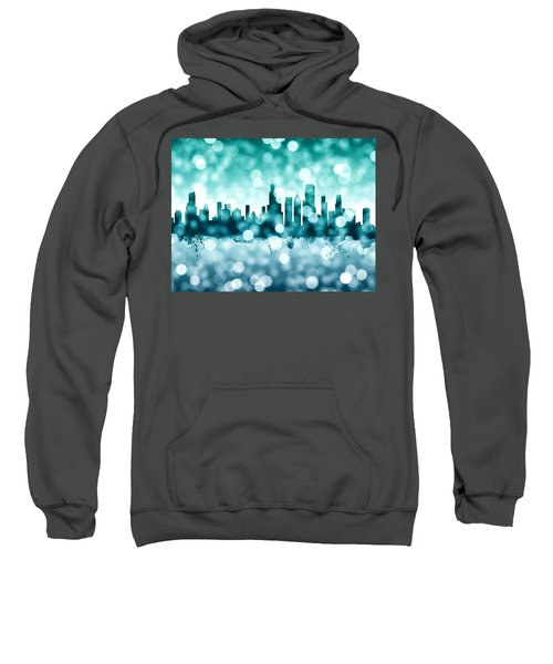 Chicago Illinois Skyline Sweatshirt by Michael Tompsett