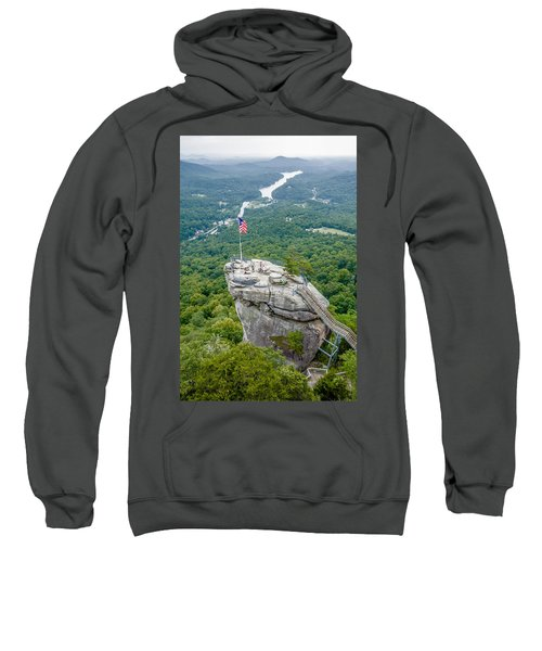 Lake Lure And Chimney Rock Landscapes Sweatshirt