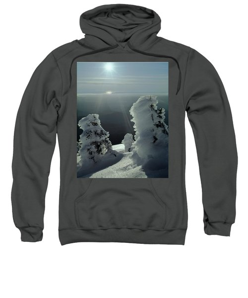 2m4415 A Ice Covered Trees Over Puget Sound Sweatshirt