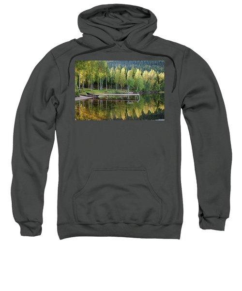 Birches And Reflection Sweatshirt