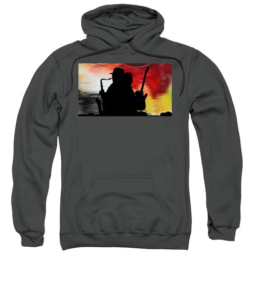 Bruce Springsteen Clarence Clemons Sweatshirt by Marvin Blaine