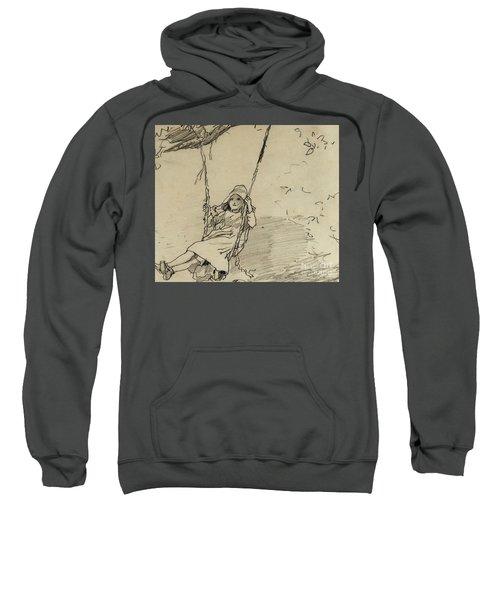 Girl On A Swing Sweatshirt