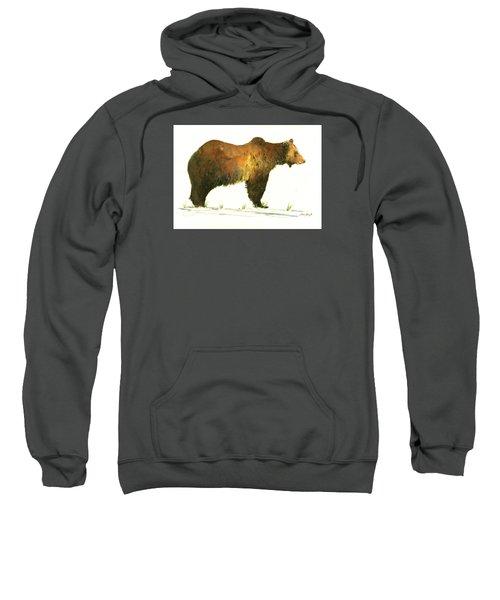 Grizzly Brown Bear Sweatshirt