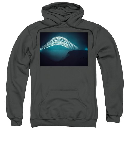 3 Month Exposure At Beachy Head Lighthouse Sweatshirt
