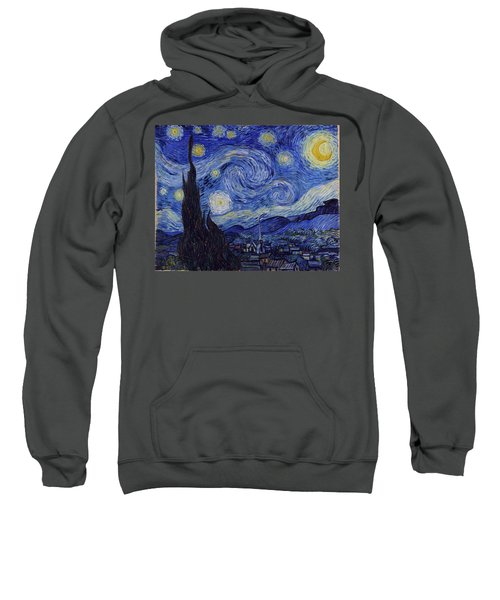Sweatshirt featuring the painting Starry Night by Van Gogh