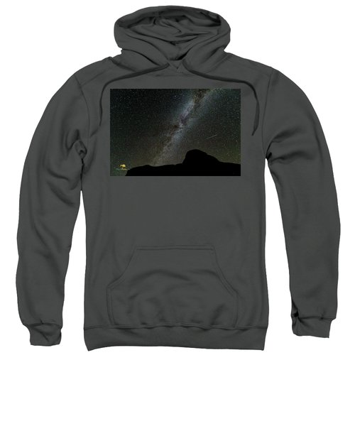 Sweatshirt featuring the photograph The Milky Way by Jim Thompson