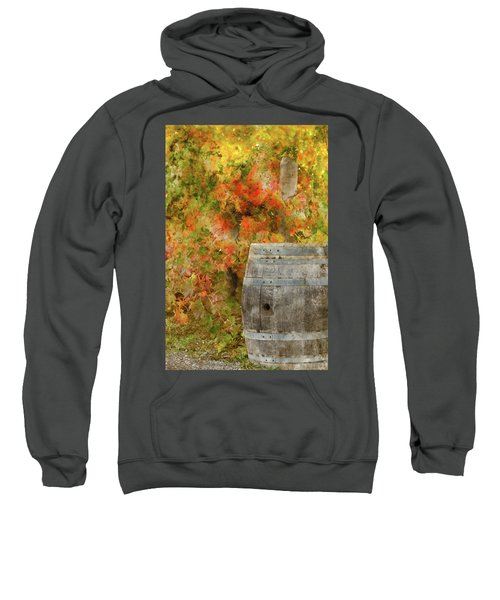 Wine Barrel In Autumn Sweatshirt