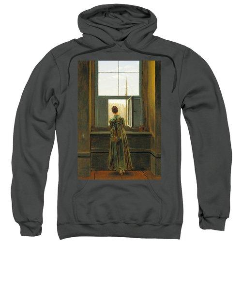 Woman At A Window Sweatshirt