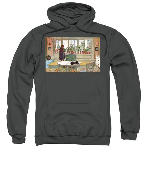 Flowers On The Windowsill Sweatshirt