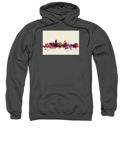 Miami Florida Skyline Sweatshirt by Michael Tompsett