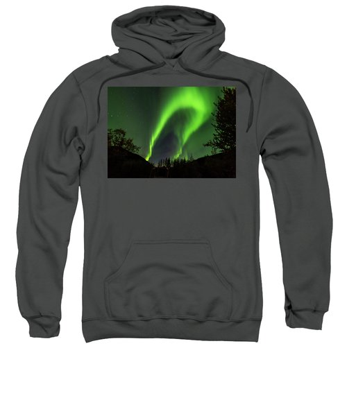 Northern Lights, Aurora Borealis At Kantishna Lodge In Denali National Park Sweatshirt