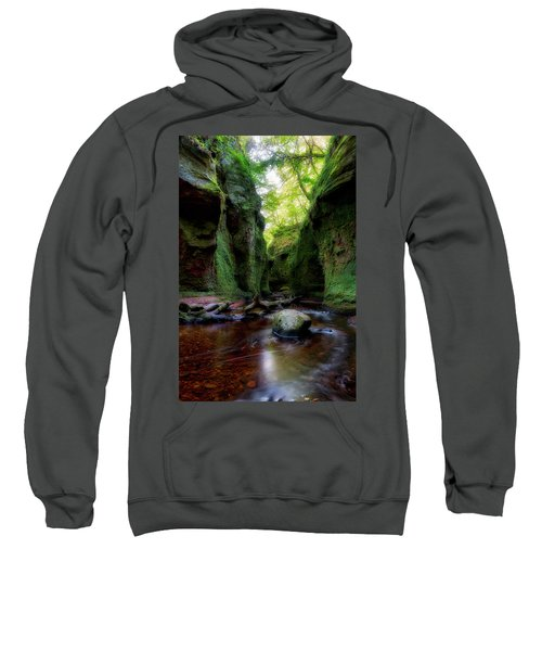 The Devil Pulpit At Finnich Glen Sweatshirt by Jeremy Lavender Photography