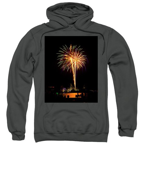 Sweatshirt featuring the photograph 4th Of July Fireworks by Bill Barber