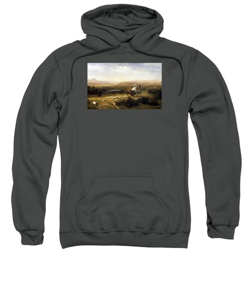 The Last Of The Buffalo  Sweatshirt by MotionAge Designs