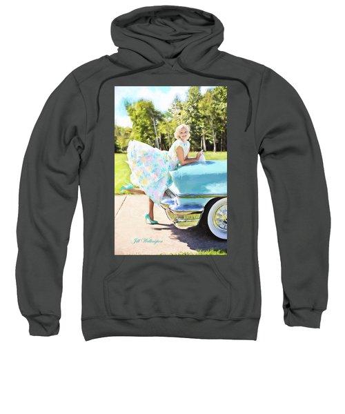 Vintage Val In The Turquoise Vintage Car Sweatshirt