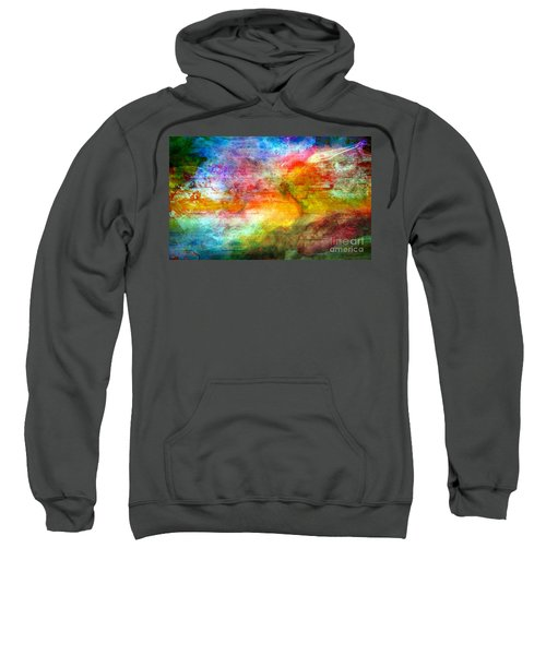 5a Abstract Expressionism Digital Painting Sweatshirt