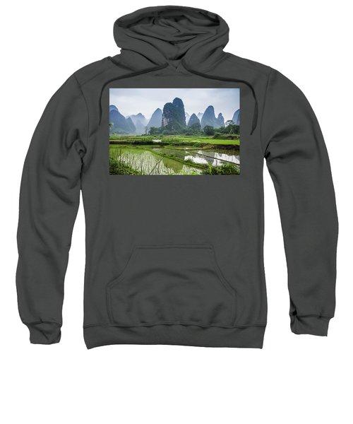 The Beautiful Karst Rural Scenery In Spring Sweatshirt