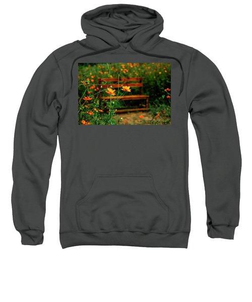 Galsang Flowers In Garden Sweatshirt