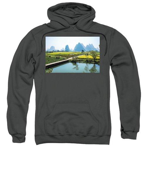 Rice Fields Scenery In Autumn Sweatshirt