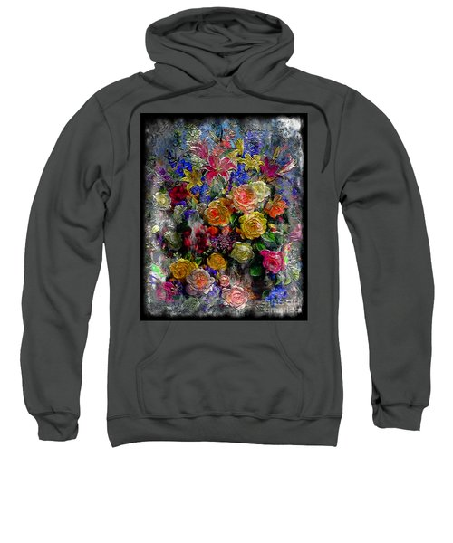 7a Abstract Floral Painting Digital Expressionism Sweatshirt