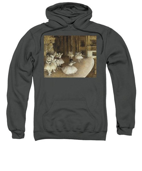 Ballet Rehearsal On Stage Sweatshirt