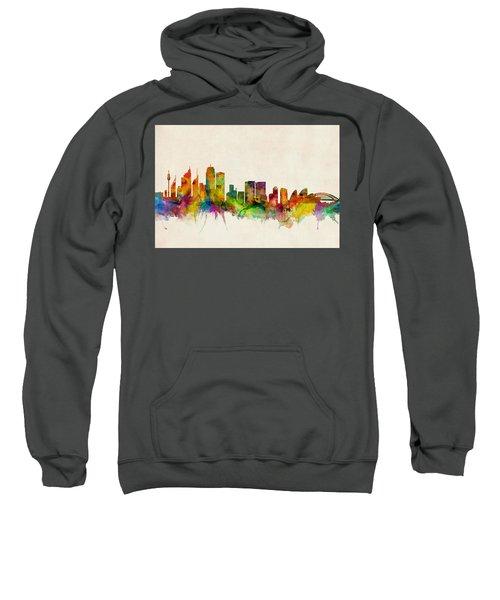 Sydney Australia Skyline Sweatshirt by Michael Tompsett