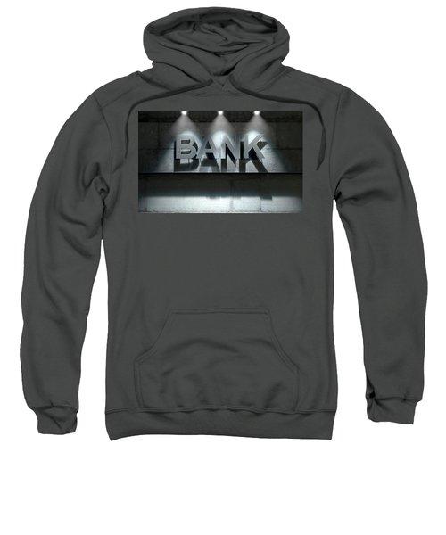 Modern Bank Building Signage Sweatshirt