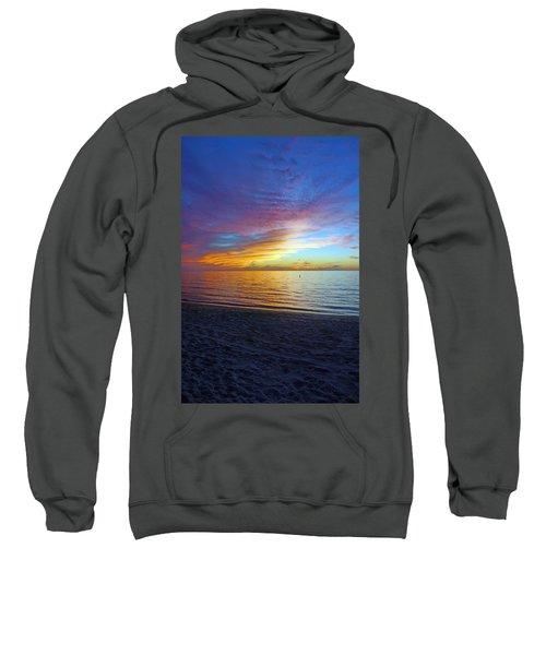 Sunset At Delnor Wiggins Pass State Park In Naples, Fl Sweatshirt