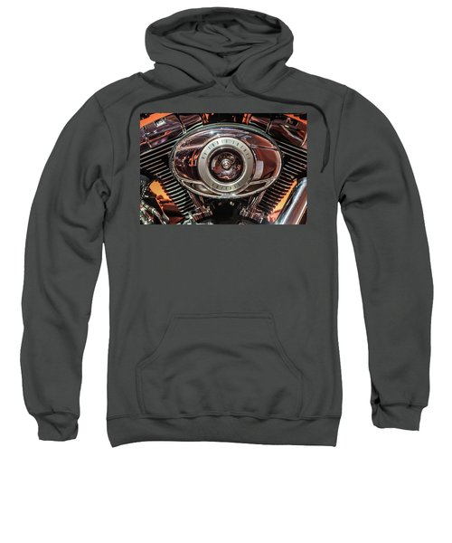 Sweatshirt featuring the photograph 96 Cubic Inches Softail by Randy Scherkenbach