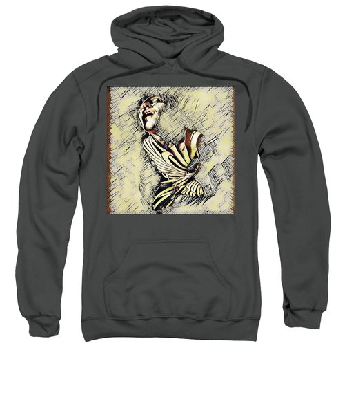 Sweatshirt featuring the digital art 9629s-kd Aroused Woman Orgasm Erotica In The Style Of Kandinsky by Chris Maher