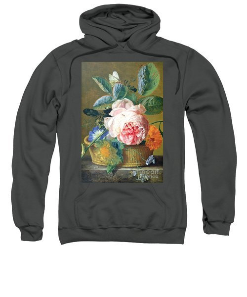 A Basket With Flowers Sweatshirt
