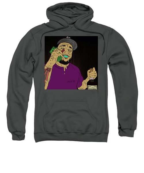 Sweatshirt featuring the digital art a by Chief Hachibi