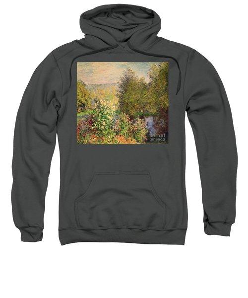 A Corner Of The Garden At Montgeron Sweatshirt