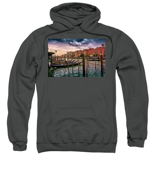 Surreal Seascape On The Grand Canal In Venice, Italy Sweatshirt