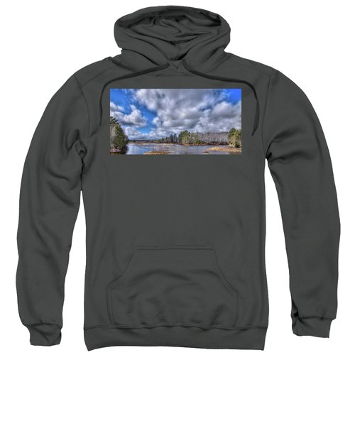 Sweatshirt featuring the photograph A Dusting Of Snow by David Patterson