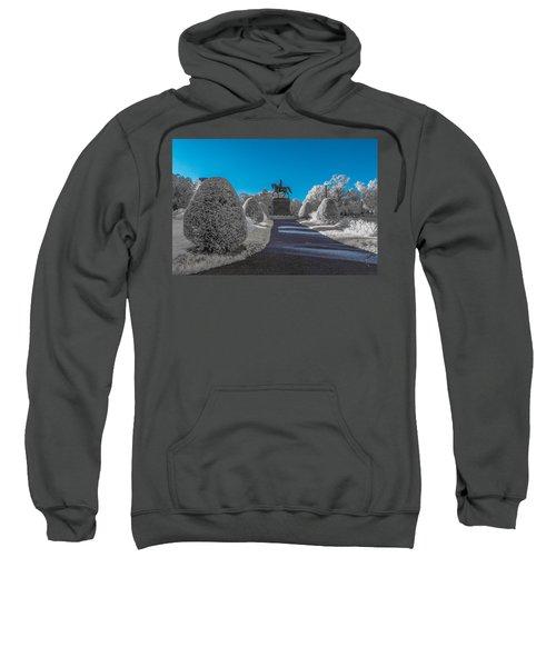 A Frosted Boston Public Garden Sweatshirt