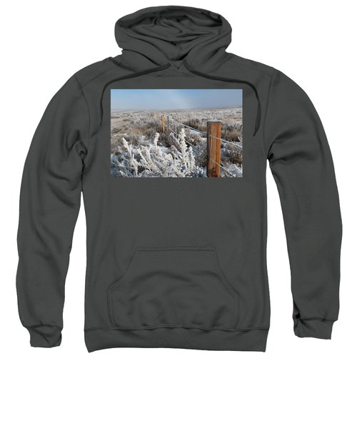 A Frosty And Foggy Morning On The Way To Steamboat Springs Sweatshirt