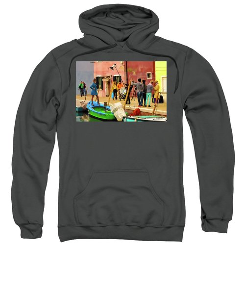 A Glamour Shoot In Burano Sweatshirt