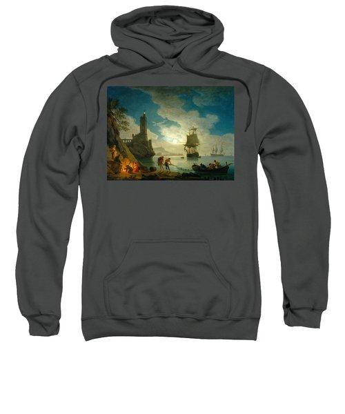 A Harbor In Moonlight Sweatshirt