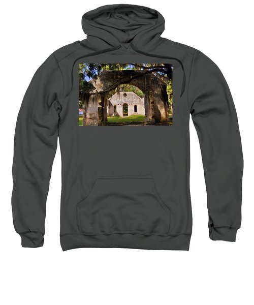 A Look Into The Chapel Of Ease St. Helena Island Beaufort Sc Sweatshirt