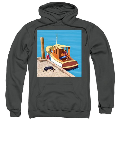 A Man, A Dog And An Old Boat Sweatshirt